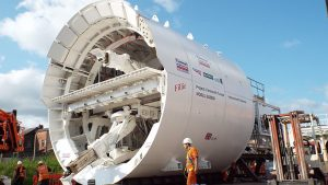 UK manufactured tunneling excavator