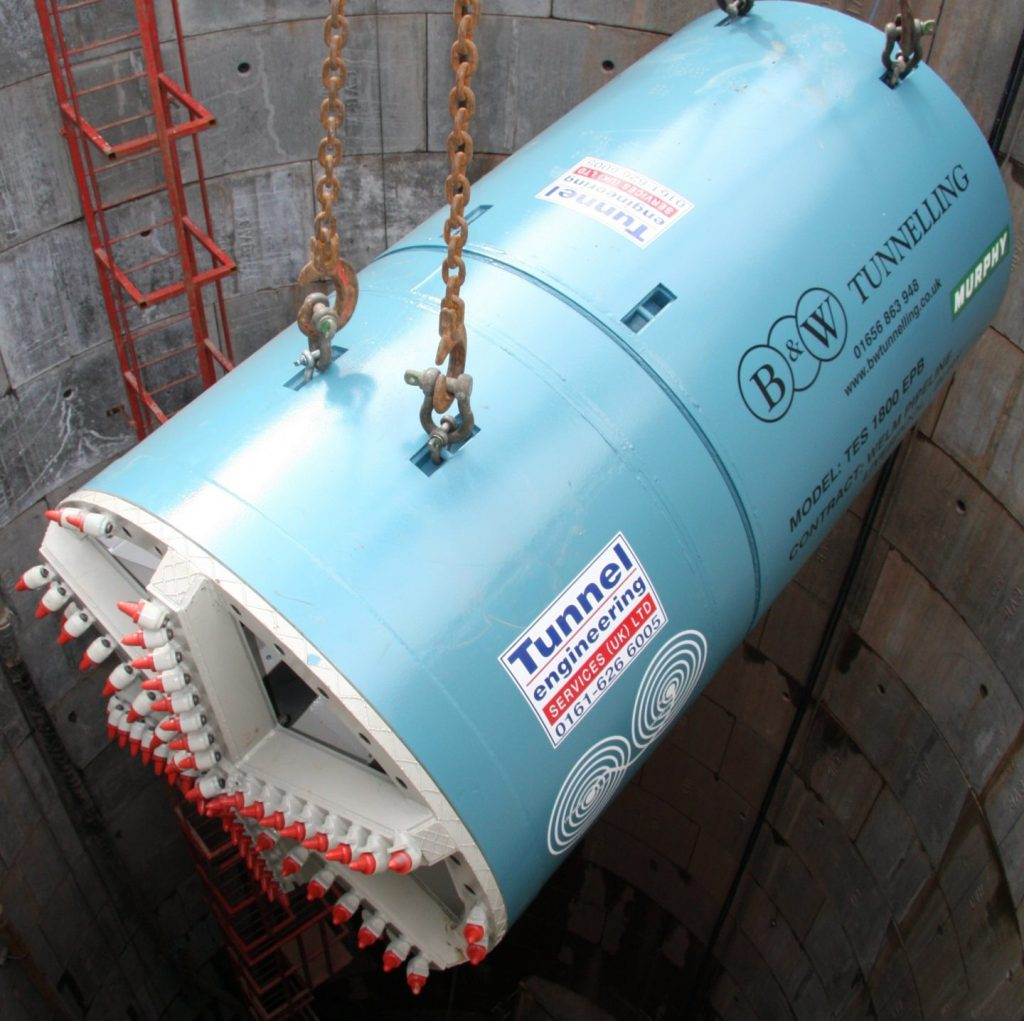 Tunnel Boring Machine - TBM1800 Open Face - Site